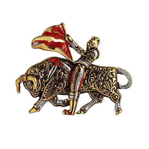 Kronleuchter Europäische und amerikanische Stierkämpfer Retro Brosche for Männer und Frauen, Legierungsmaterial, Kleidungsdekorationen