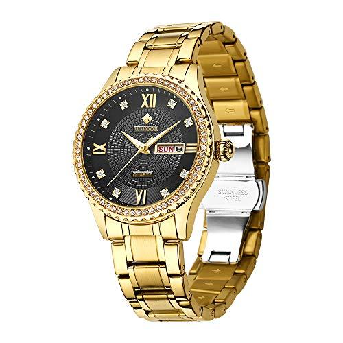 WWOOR Männer Frauen Uhr Paar Uhren Mode Analog Quarz Kleid Uhr W/Date Geschenk Armbanduhren Wasserdicht