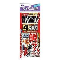 ささめ針 タイラバサビキ サバ皮&ケイムラ S-636 4-4