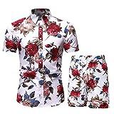 MANTORS Men's Summer Outfits Short Sleeve Hawaiian Shirts and Shorts DC01-XL