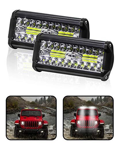 Carzex 40 LED 7 Inch Bike LED Bar Spot Beam CREE Fog Light (60W/6000K)