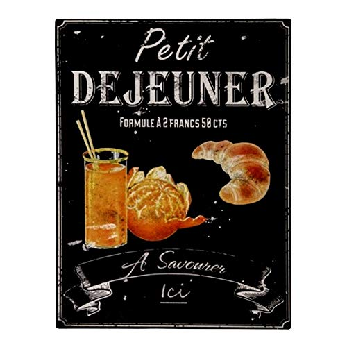 Antic Line Plaque « Petit Dejeuner » 25 * 33cm