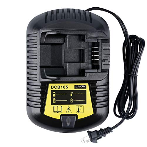Epowon DCB105 Lithium-ion Fast Battery Charger for Dewalt 12V ~ 20V MAX DCB101 DCB115 DCB107 DCB205 DCB203 DCB204 DCB206 DCB201 DCB120 DCB127 US