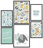 Papierschmiede® Kids Mood-Poster Set Hakuna Matata Tiere  
