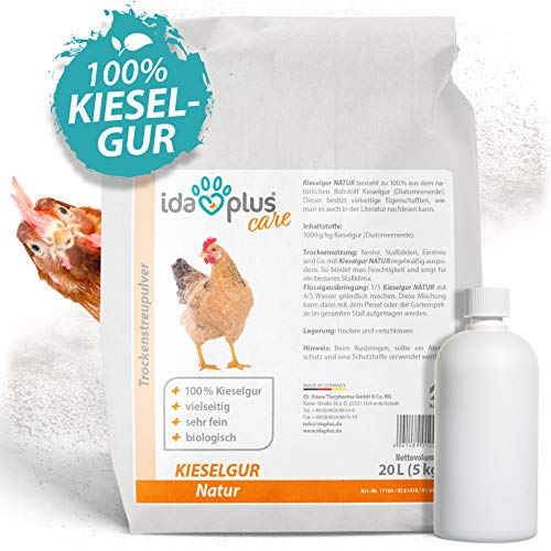 Ida Plus – Kieselgur Natur 20 Liter (5 Kg) – Biologische Kieselerde als Pulver – das Bio...