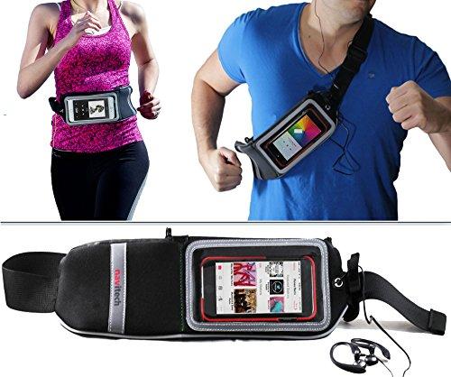 Navitech Poche-Ceinture Noir Sport Jogging randonnée, idéal Compatible avec LG Nexus 5X