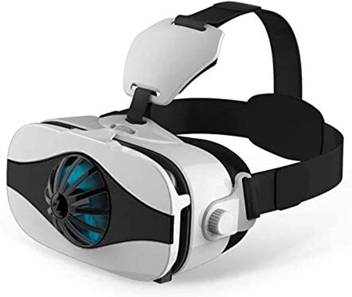 ELXSZJ XTZJ VR Headset, VR 3D Virtual Reality Headset for Movies and Games VR Glasses Goggles Compatible with iPhone & Android Phone, 2K Anti-Blue Lenses, Adjustable Pupil & Object Distance