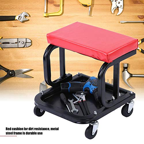 Verrijdbare werkplaatskruk, montagekruk, werkplaatswagen, werkplaatsstoel voor zakelijke zelf-garage