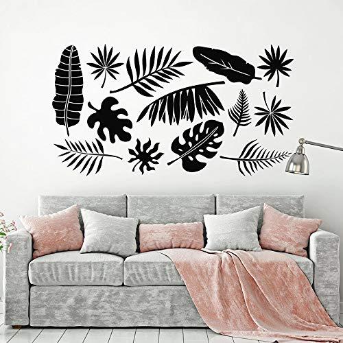 Etiqueta de la pared rama árbol hoja verde naturaleza tema estilo vinilo ventana pegatina arte mural dormitorio guardería decoración interior