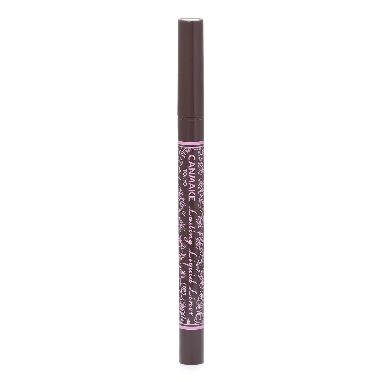 茎検出可能シャワーキャンメイク ラスティングリキッドライナー02 ビターチョコブラウン 0.6ml