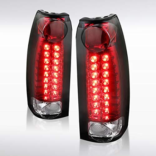 Autozensation For Chevy GMC C/K Silverado Sierra 1500 2500 3500 Red LED Tail Brake Lights