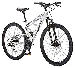 top 10 mongoose dual suspension mountain bike Mungo Dead End Men's Mountain Bike 18inch Frame 29inch Wheels, Silver Disc Brake