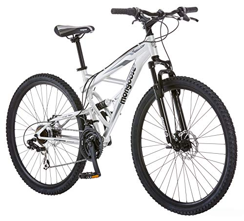 Mongoose Impasse Mens Mountain Bike, 29-Inch Wheels, Aluminum Frame,...