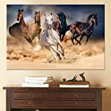Galloping canvas art animal wall art poster living room home decoration canvas painting painting frameless 50x70cm