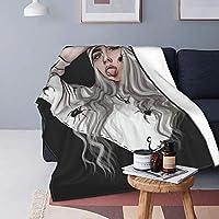 魅力的な芸術 Billie Eilish ビリー・アイリッシュ 毛布 ブランケット ひざ掛け 洗いok 綿毛布 掛け毛布 通年使用 暖房 軽量 肩掛け 冷房対策 大判 車用 おしゃれ