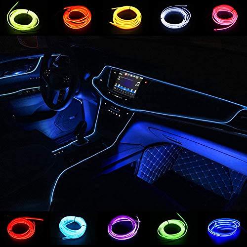 El Wire 5 m/16 FT 12 V Neon El Lights Cuerda Neon Glowing Strobing Electroluminiscente Wire Neon Lights para Jardín, Decoraciones Cuerdas de Luces (Azul)