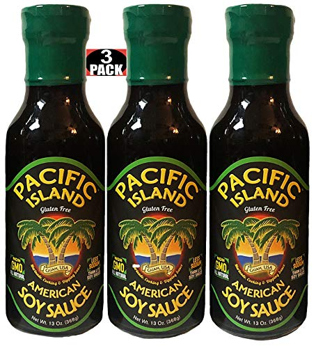 Pacific Island Soy Sauce, American, Fat-Free, Gluten-Free, No Sugars, Non-GMO, No Carbs, MSG-Free, No Corn Starch, No Corn Syrup, No Preservatives, Naturally Fermented, Lowest Sodium Real Soy Sauce