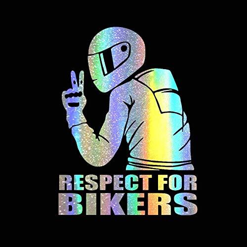 WYLD Auto stickers 14x19CM Autostickers Respect voor fietsers Sticker op auto Vinyl Grappige 3D-stickers en stickers Motorfiets Auto Styling Decoratie