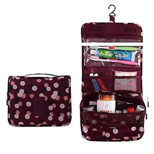 AULLY PARK Bolsa de cosméticos portátil para colgar, bolsa de maquillaje, kit de viaje, organizador de gran capacidad