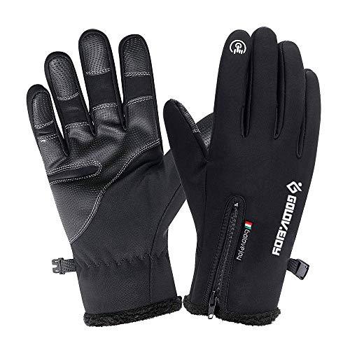 CosyInSofa wasserdichte Handschuhe Touchscreen Outdoor Skifahren Radfahren Camping Wandern Handschuhe, Anti-Rutsch-Vollfinger-Thermo-Winterhandschuhe für Männer und Frauen (M:7.5-8.0IN)