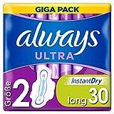 Always Ultra Binden Damen Gr. 2 (30 Damenbinden mit Flügeln) Giga Pack, Ultra Dünn Und Super Saugfähig, Geruchsneutralisierend Und Auslaufschutz