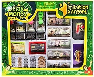 OKK TOYS Educational Play Money Set for Kids Bills, Coins, Credit Card