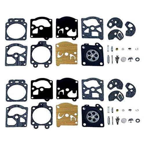 Poweka Reparatur-Set für Vergaser, Membrandichtung, für Walbro K10-WAT WA & WT-Serien, Stihl, Husqvarna, Poulan, McCulloch, Echo, 2 Stück