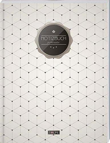 """TULPE Punktraster Notizbuch A4 """"C110 Schlichtes Muster"""" (140+ Seiten, Vintage Softcover, Punktkariertes Papier - Bullet Journal, Dickes Notizheft, ... Gepunktete Seiten, Dot Grid Notebook)"""