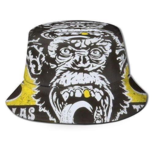 GGdjst Bucket Hoeden, Gas Monkey Fisherman Beanie Zwart Elegant One Size Fishermans Hoed voor Mannen & Vrouwen