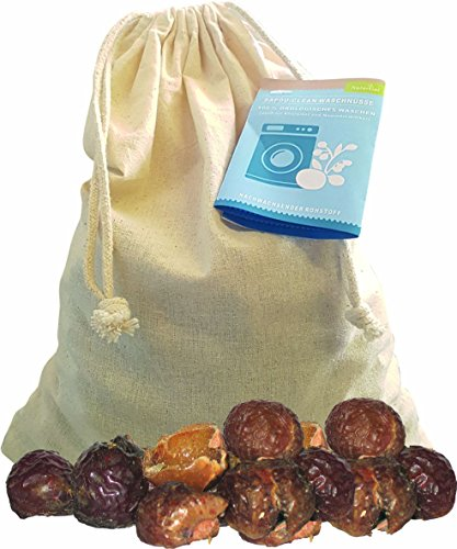 Waschnüsse im Baumwollbeutel + Waschsäckchen, 1kg