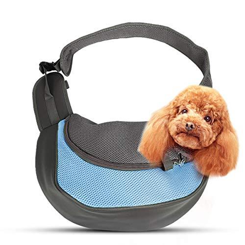 PETCUTE Transportín para Mascotas Bolsa Portátil para Perros Bolsa Portador Hombro de Perro Bolso de Hombro para Perros Gatos pequeños y medianos