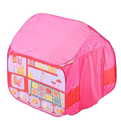 XinQing-Tienda Tienda de Juegos para niños Juego de Camping Casa para Persona Soltera Juego de casa de Esquina al Aire Libre Ocean Ball Pool (Rosa 35.4 * 35.4 * 35.4 Pulgadas Embalaje de 1)