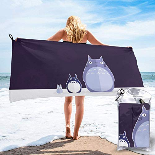 chenjian Toalla de baño de anime de dibujos animados de secado rápido suave toallas de baño de playa para viajes, camping, gimnasio, piscina, sillas de playa