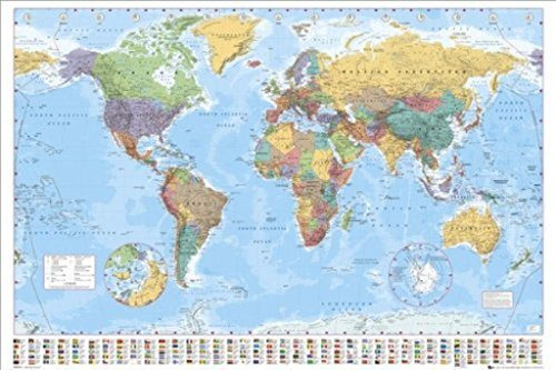 GB Eye Limited World Map Political Classroom Educational Poster 36x24 inch