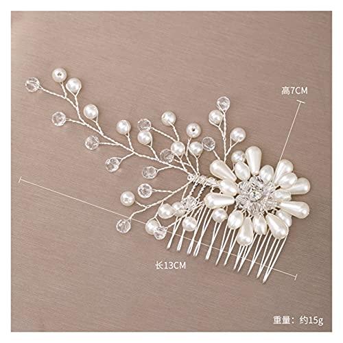 ZHEMAIE Horquillas para el pelo de boda con diseño de flores para...