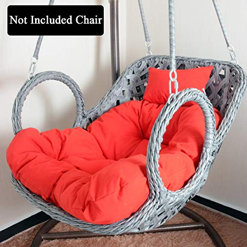 HYXQYYMY Swing Chair Cushion Hanging Egg Hammock Chair Cushions,Hanging Basket Chair Cushions with Pillow,Soft and Comfortable Polyester Fabric Papasan Patio Seat Cushion