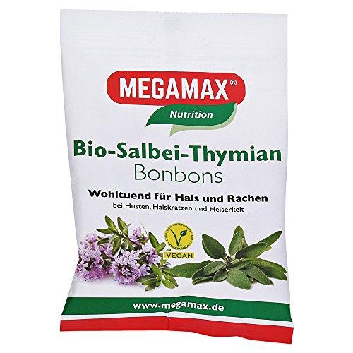 MEGAMAX Bio Salbei-Thymian Bonbons 85 Gramm