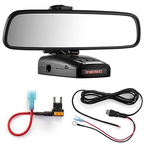 Best Review Of Radar Mount Mirror Mount + Direct Wire Power Cord + Mini Fuse Tap for Radenso XP and ...