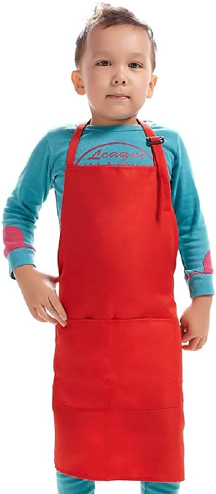 Kid Apron Adjustable Strap with 2 Pockets Painting Boys Ranking Philadelphia Mall TOP19 Girls Co