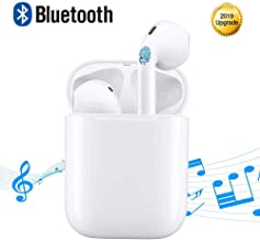 Bluetooth Headphones Wireless Earbuds Touch Control Earphones Cordless Earpiece Mini TWS Headsets for iOS iPhone XMAS/XR/X/8/7/6 Plus and Android Galaxy Sumsung S7 S8 S9 S10 Plus