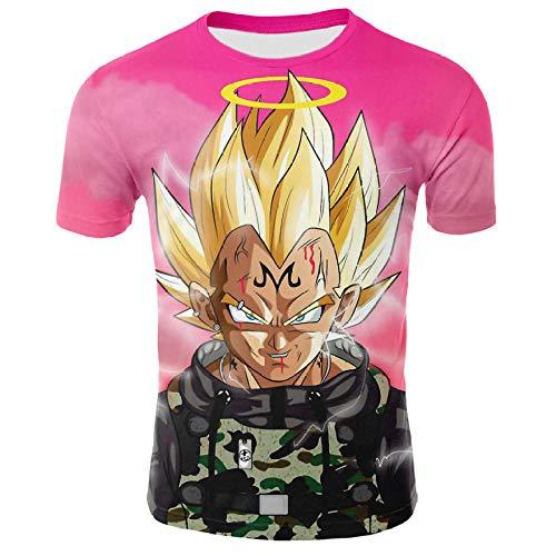 Camisetas Camiseta con Estampado 3D para Hombre Anime Manga Corta Dragonball Kakarotto Super Son Goku Cosplay Camiseta Sudadera con Manga Corta Personalizada-UNA_4XL