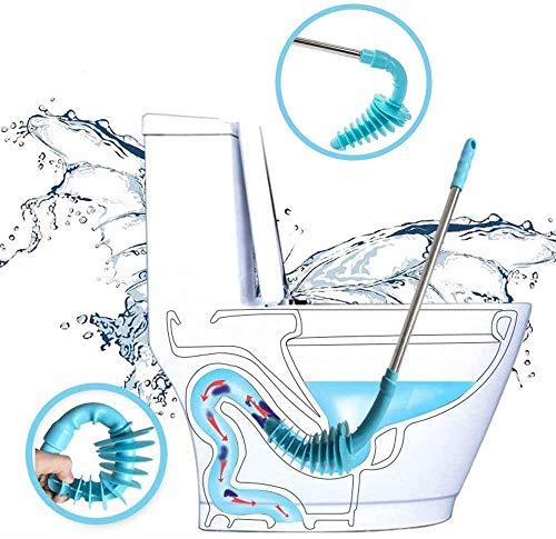 New Design WC Kolben, Kolben Replica Typ WC-Verstopfen Entferner, flexible Gummi Kopf Edelstahl Griff, WC-Schleppnetz) Rohr für Verstopft Siphon WC