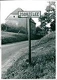 Ortsschild von Görlitz-Ost (Zgorzelec) - Vintage Press