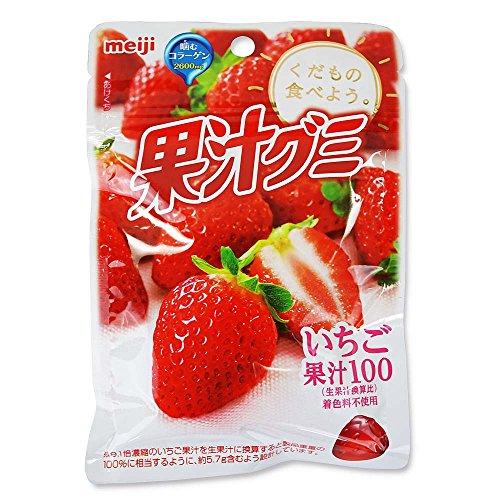 明治 果汁グミ いちご(10個入)