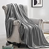 Suchtale Fleece Blanket (Throw Size 50x60 Grey) Plush Fuzzy Lightweight Throw, Super Soft Microfiber Flannel Nap Blankets for Couch, Bed, Sofa Ultra Luxurious Warm and Cozy for All Seasons