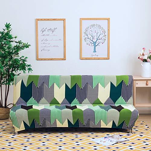 SSHHJ Pastoral Bedruckte Elastische Armlose Sofabezug All-Inclusive Four Seasons Universal Sofa Stuhlbezug Home Dining Hotel Sofa Dekoration