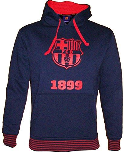 Fc Barcelone Sweat Shirt à Capuche Barça - Collection Officielle Taille Enfant garçon 12 Ans