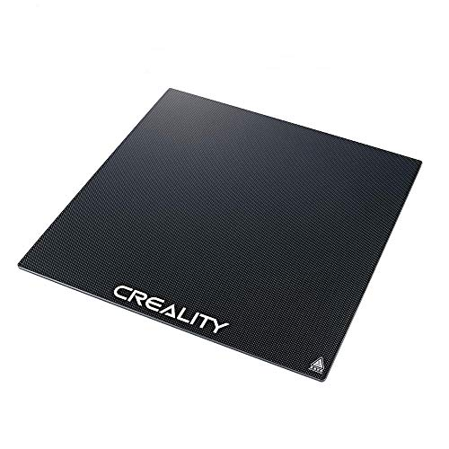 Plataforma de impresora 3D Creality Cama calefactada Superficie de construcción Placa de vidrio templado para impresora 3D Ender 3 / Ender 3 Pro 235x235x3 mm