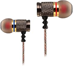 WishLotus Stereo Headphones Heavy Bass Professional Earphones Hi-Fi Earbuds In Ear Headsets for iPad, Tablet, Laptops, MP3/4, iPod, iPhone, Samsung, LG, HTC, etc. (DR1 no Microphone)