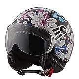 Vintage Adult Motorcycle Half Helmet Men and Women Road Riding Beanie Motorbike Helmet Cruiser Bike Retro Half Shell Helmet Half Helmets for Youth Men Women DOT/ECE Approved